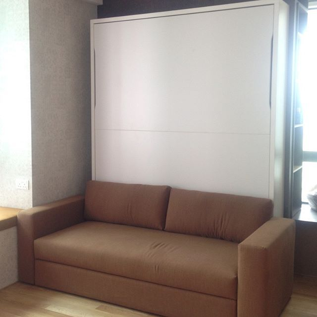 This Studio Apartment Has Doubled In E By Using Slumbersofa Clic To Offer A Real Bed Combined With Storage Sofa Made Italy Choice Of 68