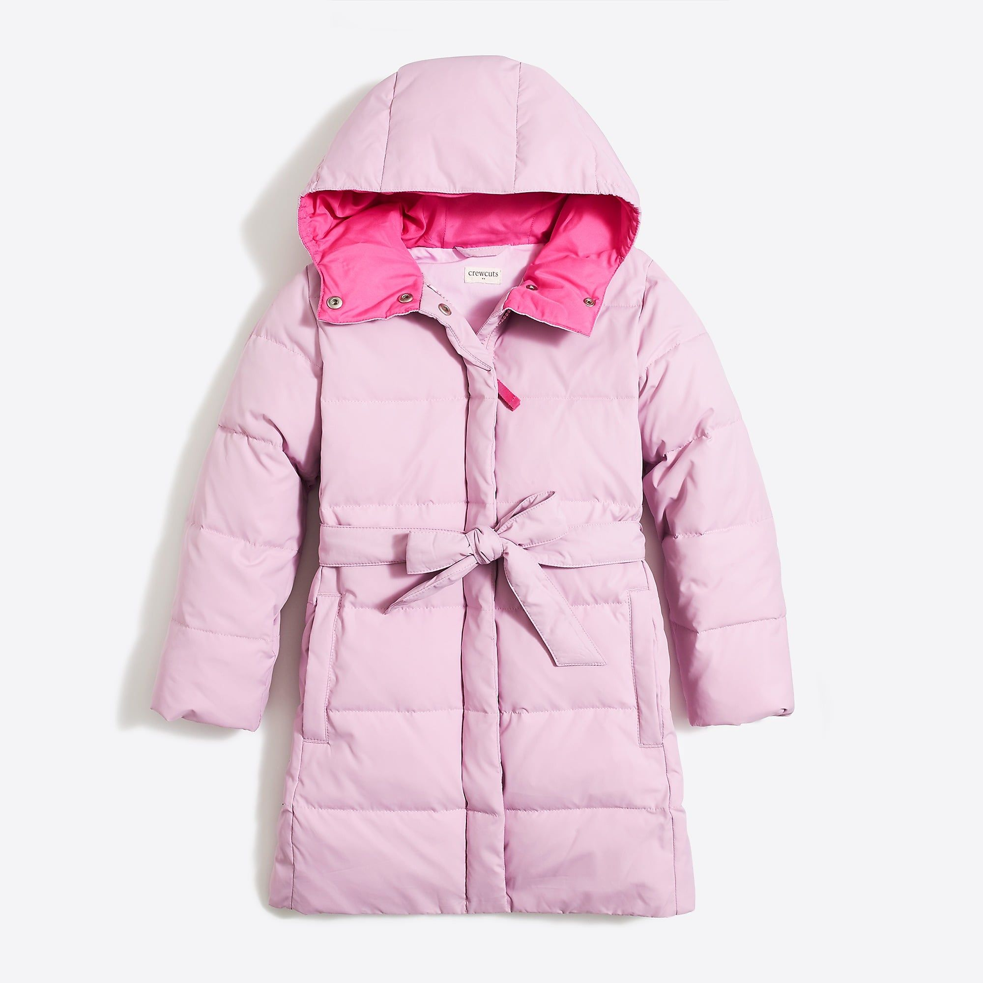 1121a10206cc Girls  long belted puffer coat