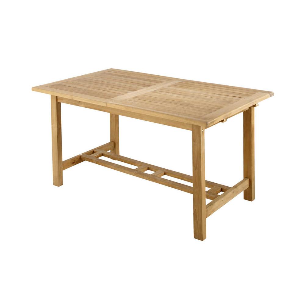 Table de jardin en teck massif L 150 cm Oléron   Mobilier de jardin