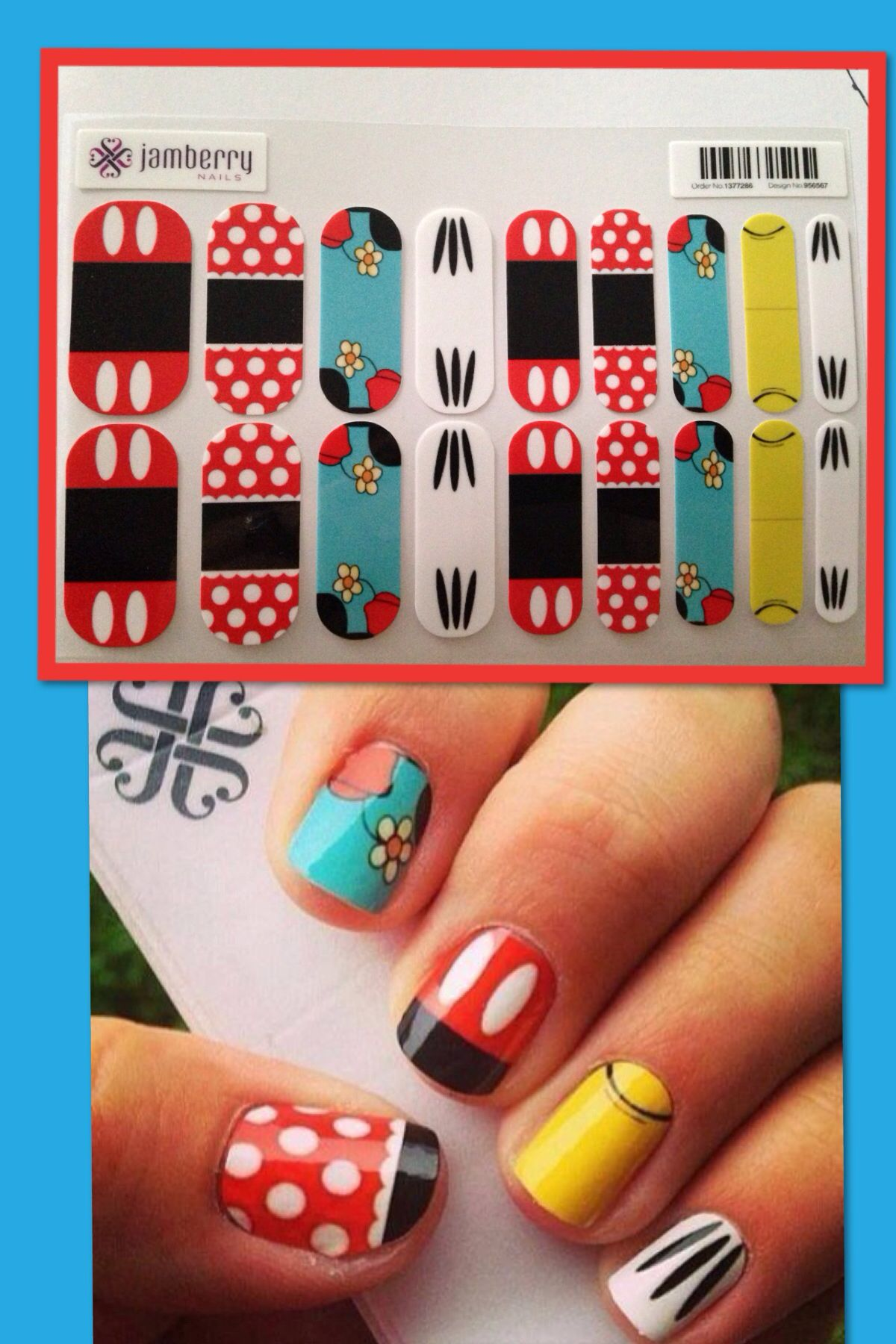 Disney jamberry!!! Love Minnie Mouse and Mickey Mouse? Going to Disney on  vacation??? Get some Disney nail wraps! T… | Disney nails, Nails for kids,  Nail art disney