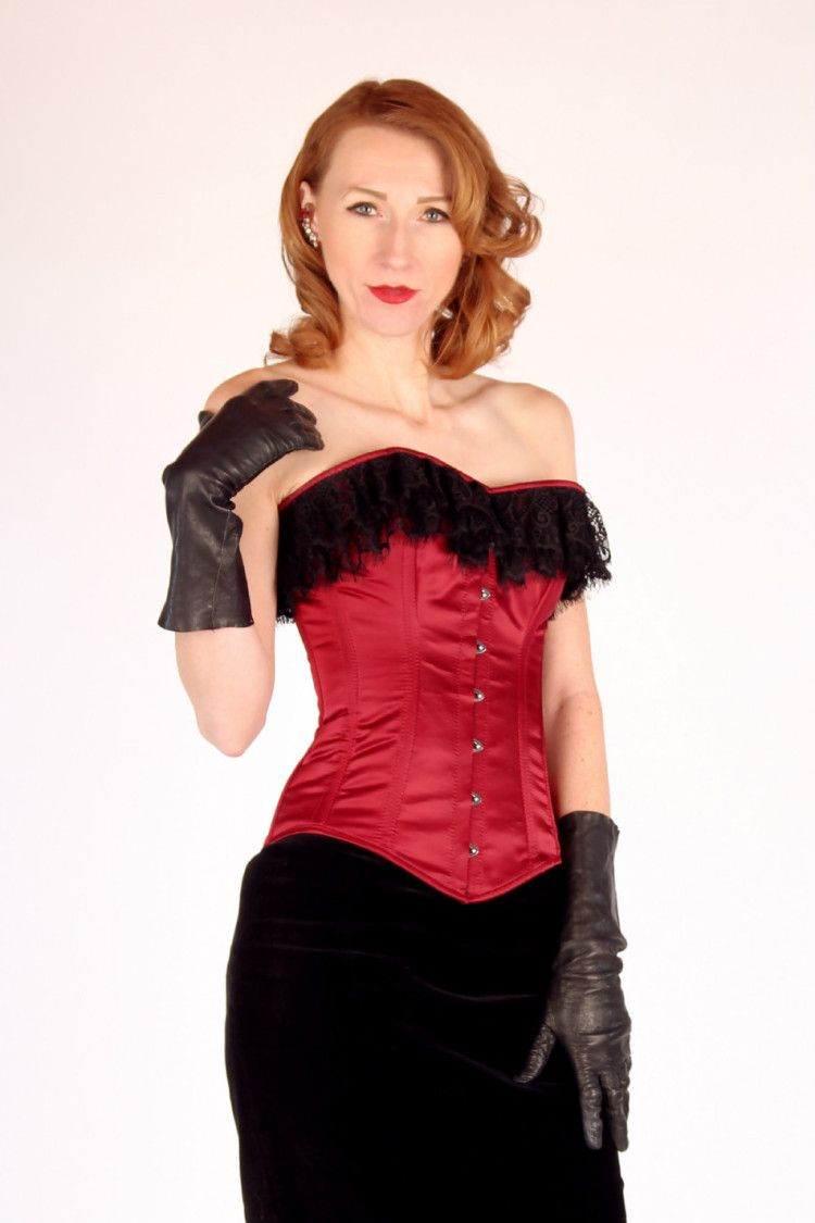 f66ed73f16 Luxury bespoke red and black corset with laces