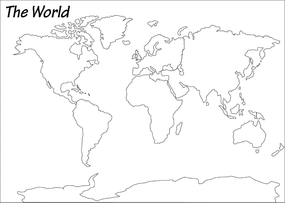 Outline Map Of World Blank World Map Whatsanswer In 2020 World Map Outline World Map Printable World Map Sketch