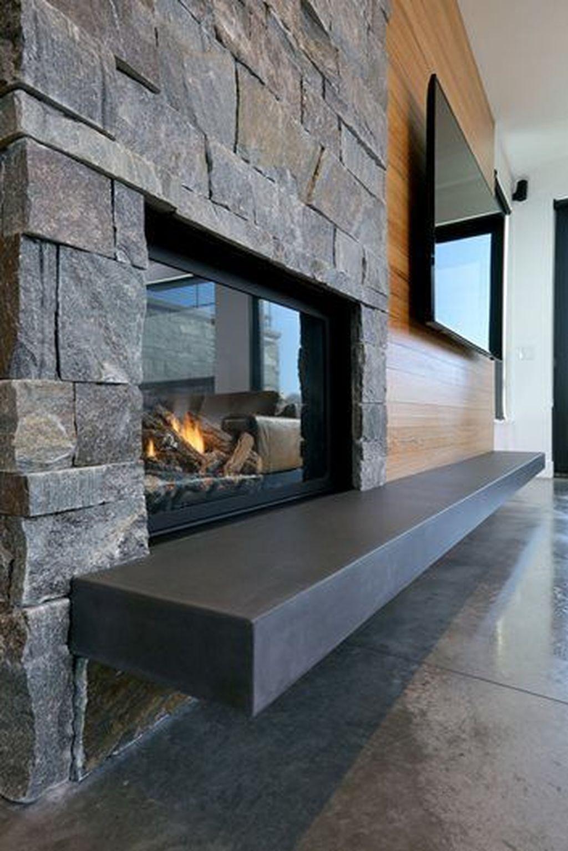 33 Stunning Modern Fireplace Design Ideas With Tv Above