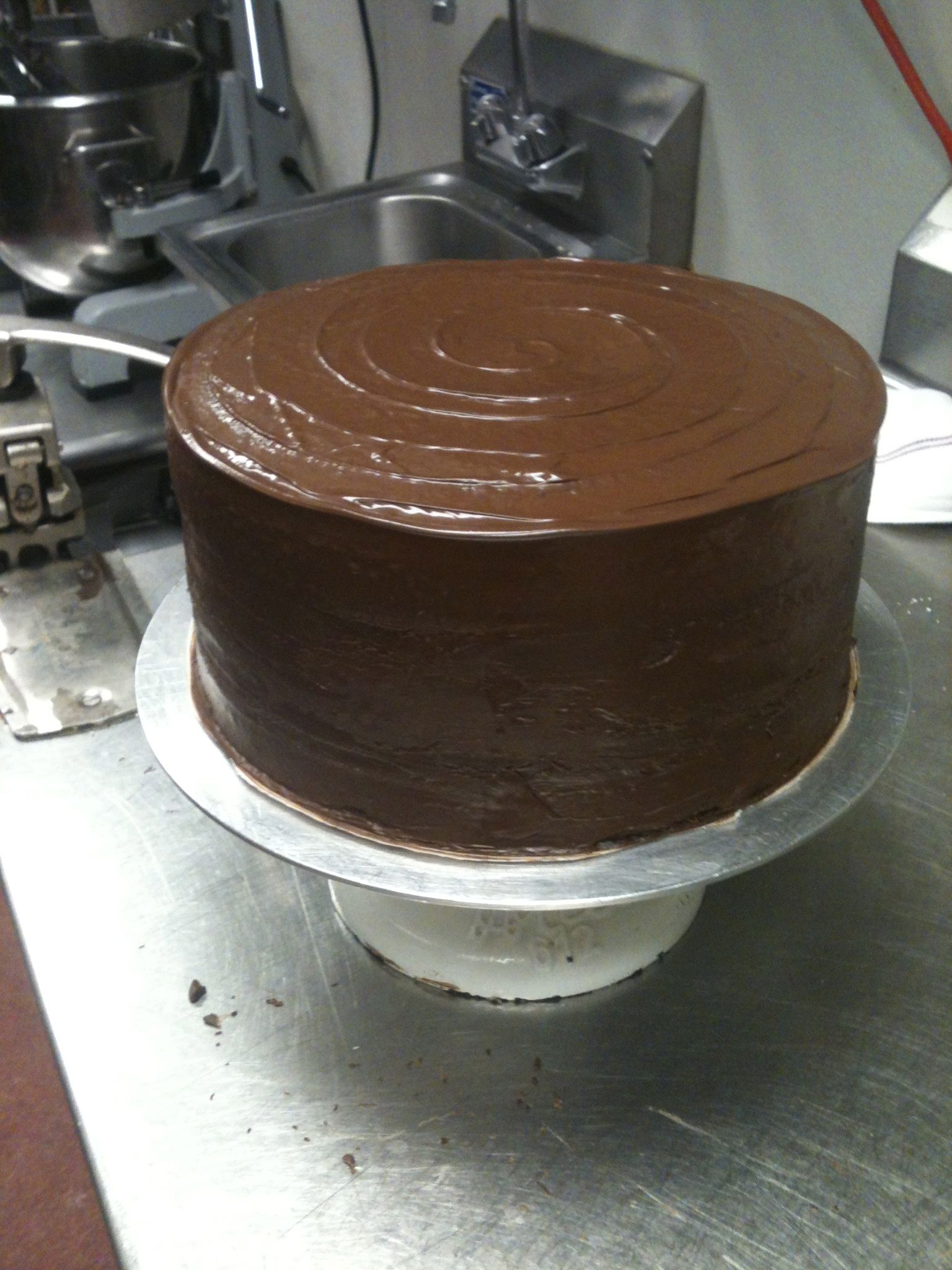 Chocolate stout cake--made with the great 512 Pecan Porter.