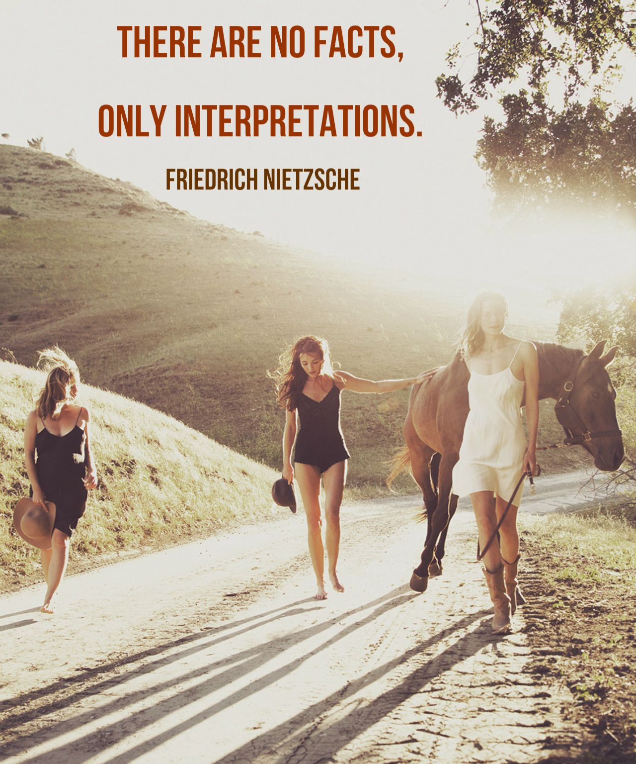 """There are no facts, only interpretations.""  ― Friedrich Nietzsche"