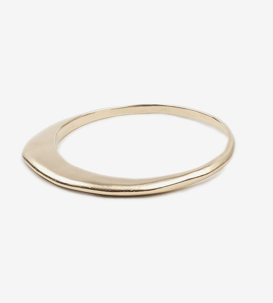 Shapes asymmetrical brass bangle no brass shape and bangles