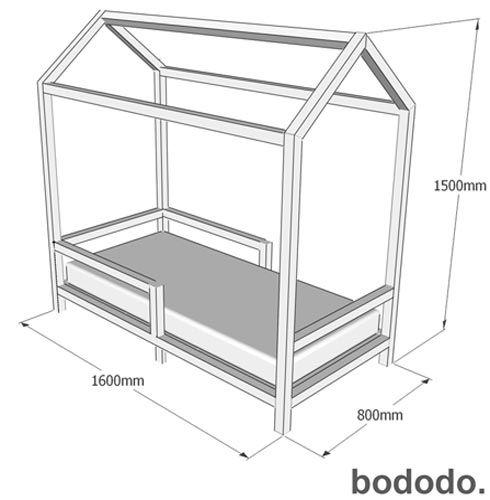 Mini cama casinha pinus natural bododo pinus n o for Camas en forma de casa