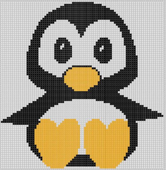 Схема по картинке вязание пингвина