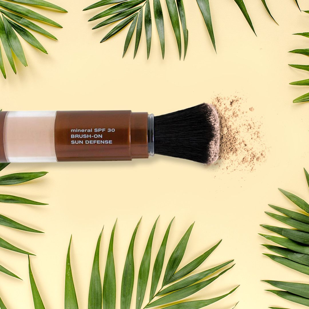 Use our Mineral SPF 30 BrushOn Sun Defense to easily