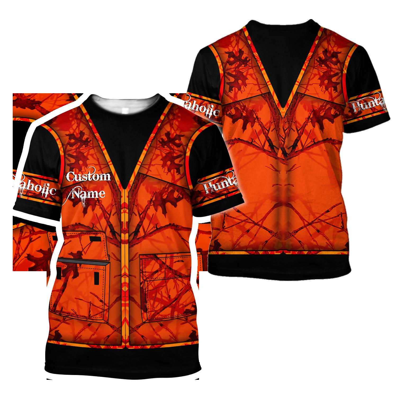Premium Hunting for Hunter Custom Name 3D Printed Unisex Shirts - T-Shirt / XXL
