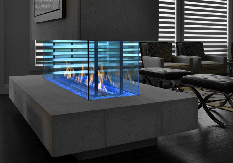 davinci custom linear island davinci fireplaces linear fireplace rh pinterest com