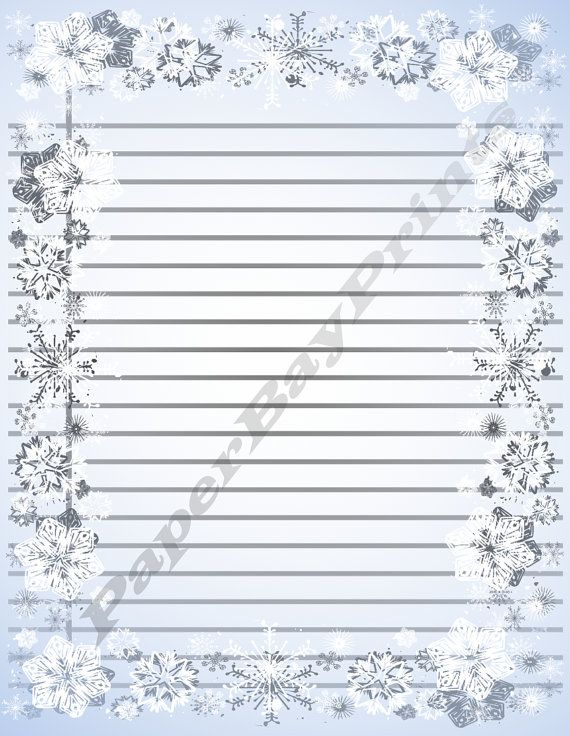 Printable Paper With Apple Border Lined Writing by PaperBayPrints - lined writing paper