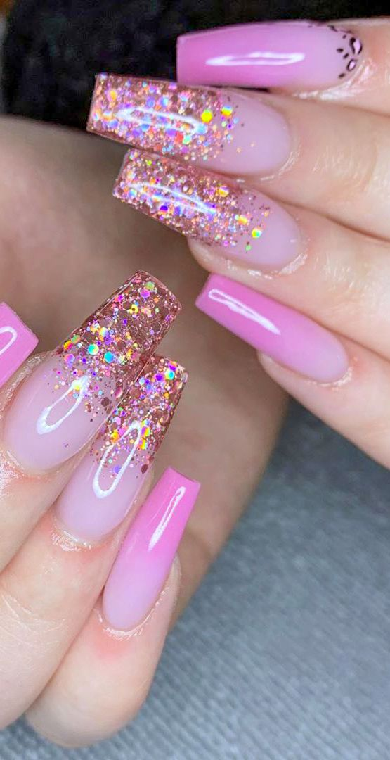 47 Pretty Pink Nail Art Designs For Beautiful Ladies In 2020 Page 37 Of 47 Lasdiest Com Daily Women Blog In 2020 Pink Nail Art Designs Pink Nail Art Pink Acrylic Nails