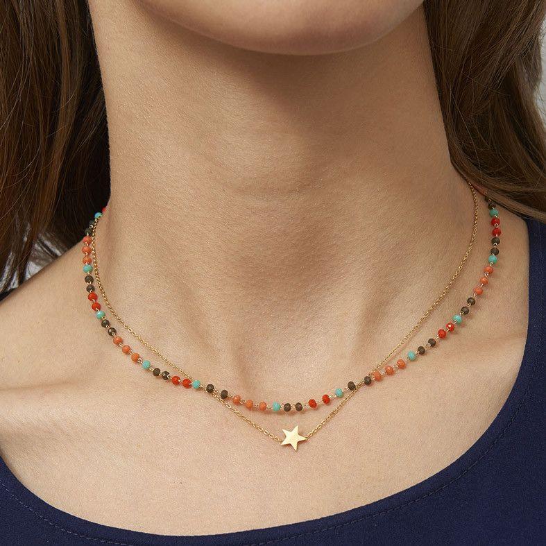 collier etoile perle orange marron zag bijoux pinterest etoilee marrons et orange. Black Bedroom Furniture Sets. Home Design Ideas