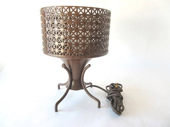 Mid Century Modern Mcm Lamp Atomic Reticulated Wire Mesh Footed Table Lamp I Love Lamp Danish Modern Design Mid Century Modern