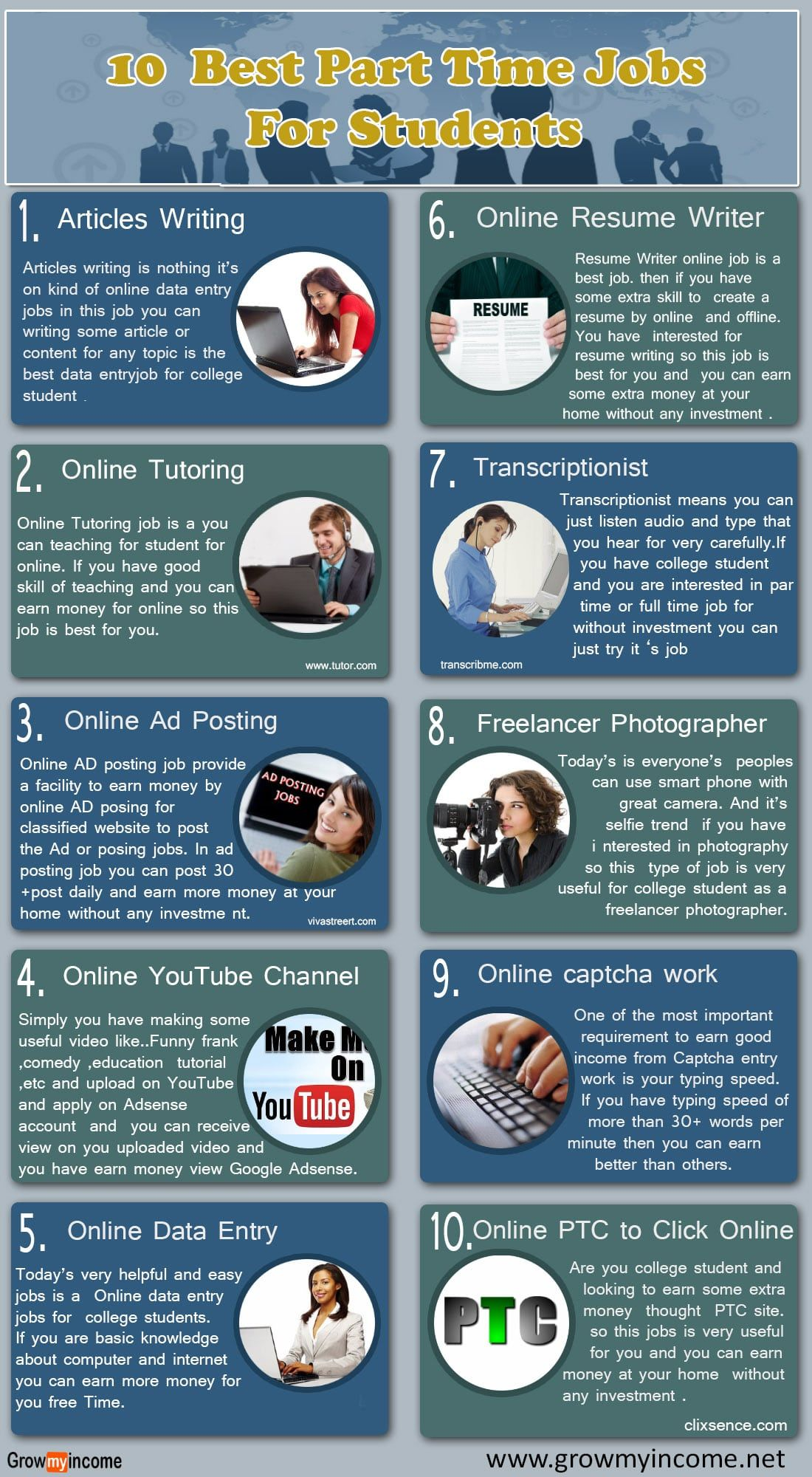 10 best part time jobs for students student jobs best