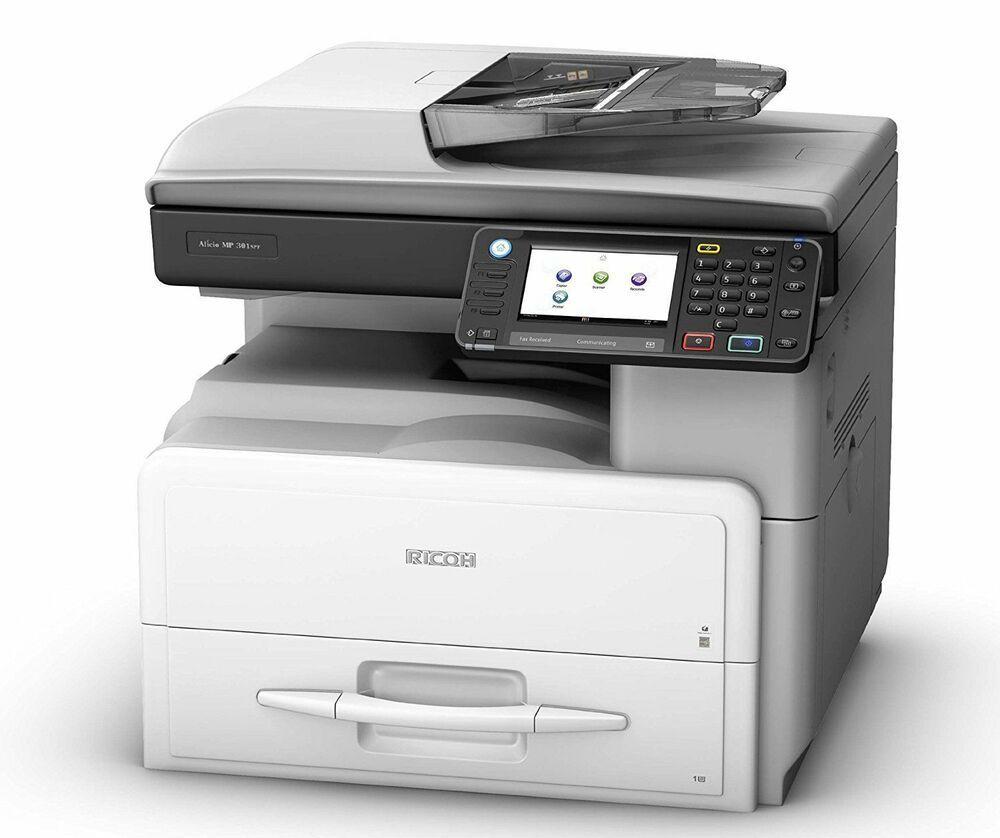 Ricoh Aficio Mp 301spf Black White Laser Multifunction Printer