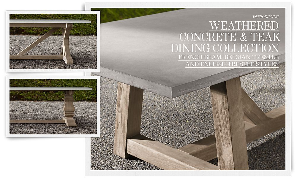 High Quality Concrete Table | Restoration Hardware