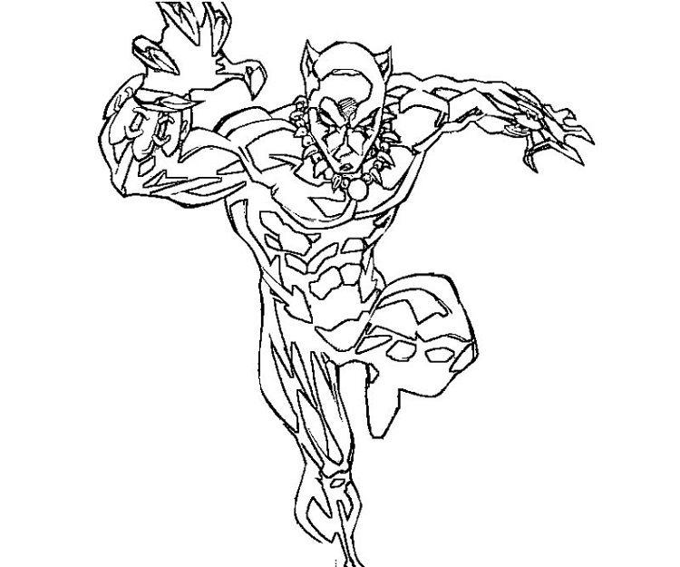 Marvel Black Panther Coloring Page Superhero Coloring Pages Black Panther Marvel Black Panther Drawing