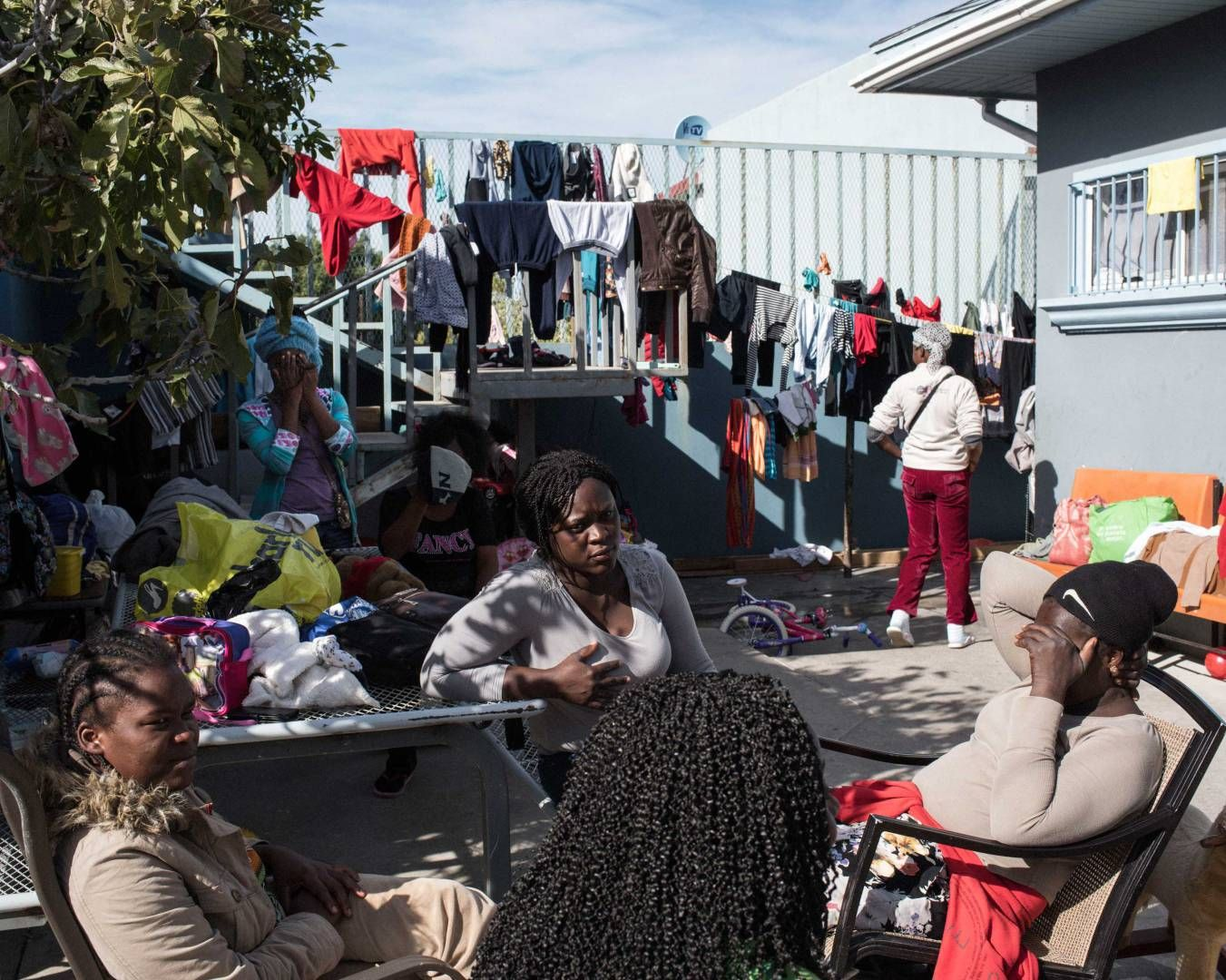 Haitian migrants inside a shelter in downtown Tijuana, Mexico. Dec. 18, 2016.