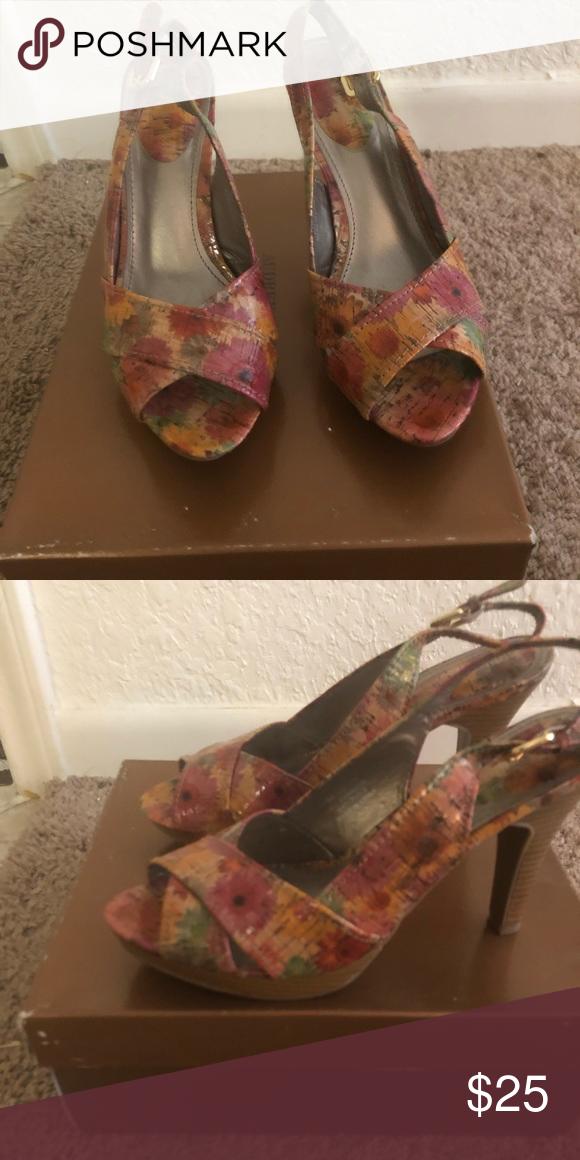 d6b8aada15 Heels They are beautiful floral print. Audrey Brooke Shoes Heels ...