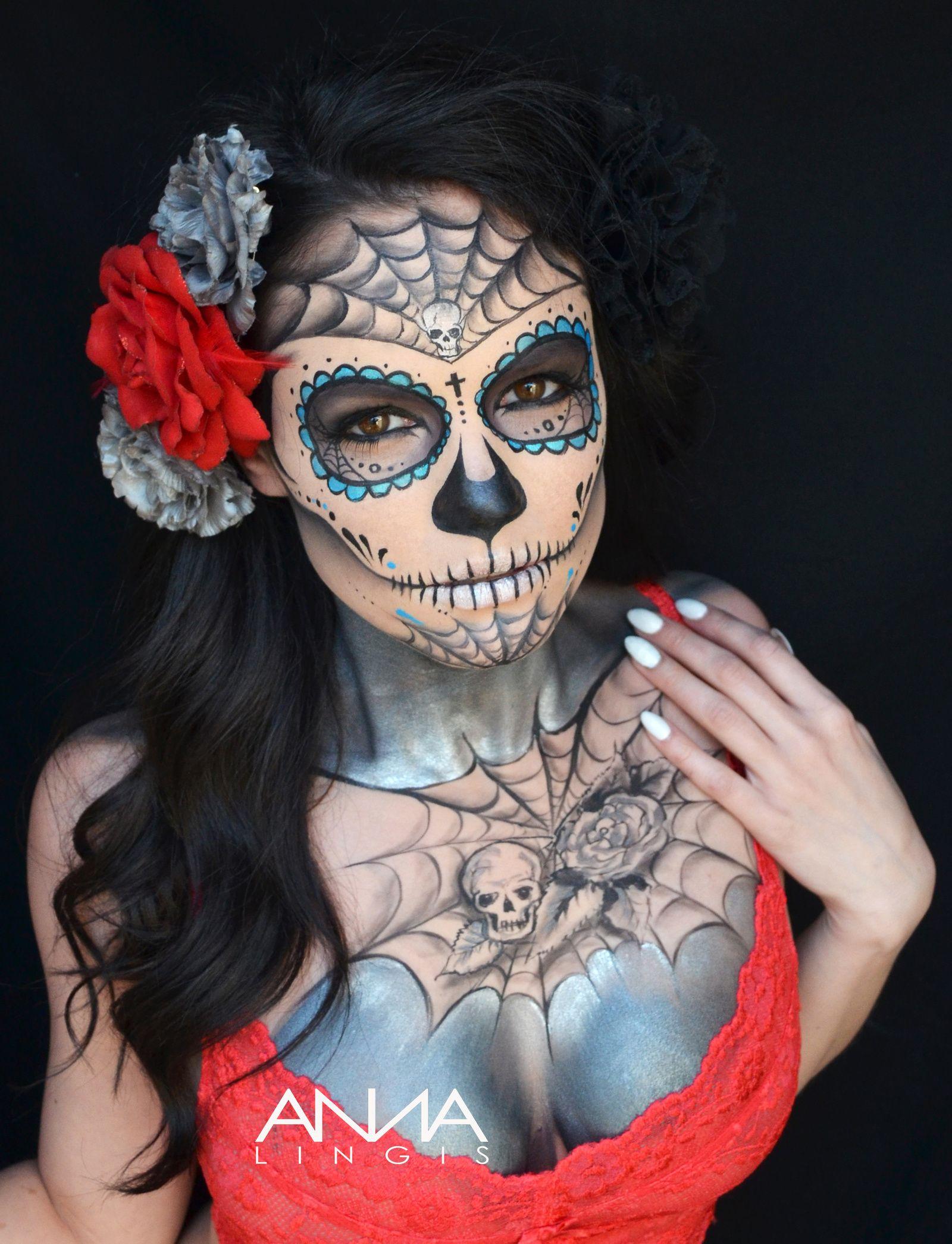 Anna Lingis's Face & Body Art - Skulls