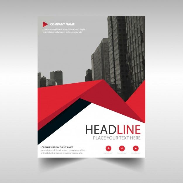 Download Red Creative Annual Report Book Cover Template With Triangles For Free Book Cover Template Cover Template Company Profile Design Templates