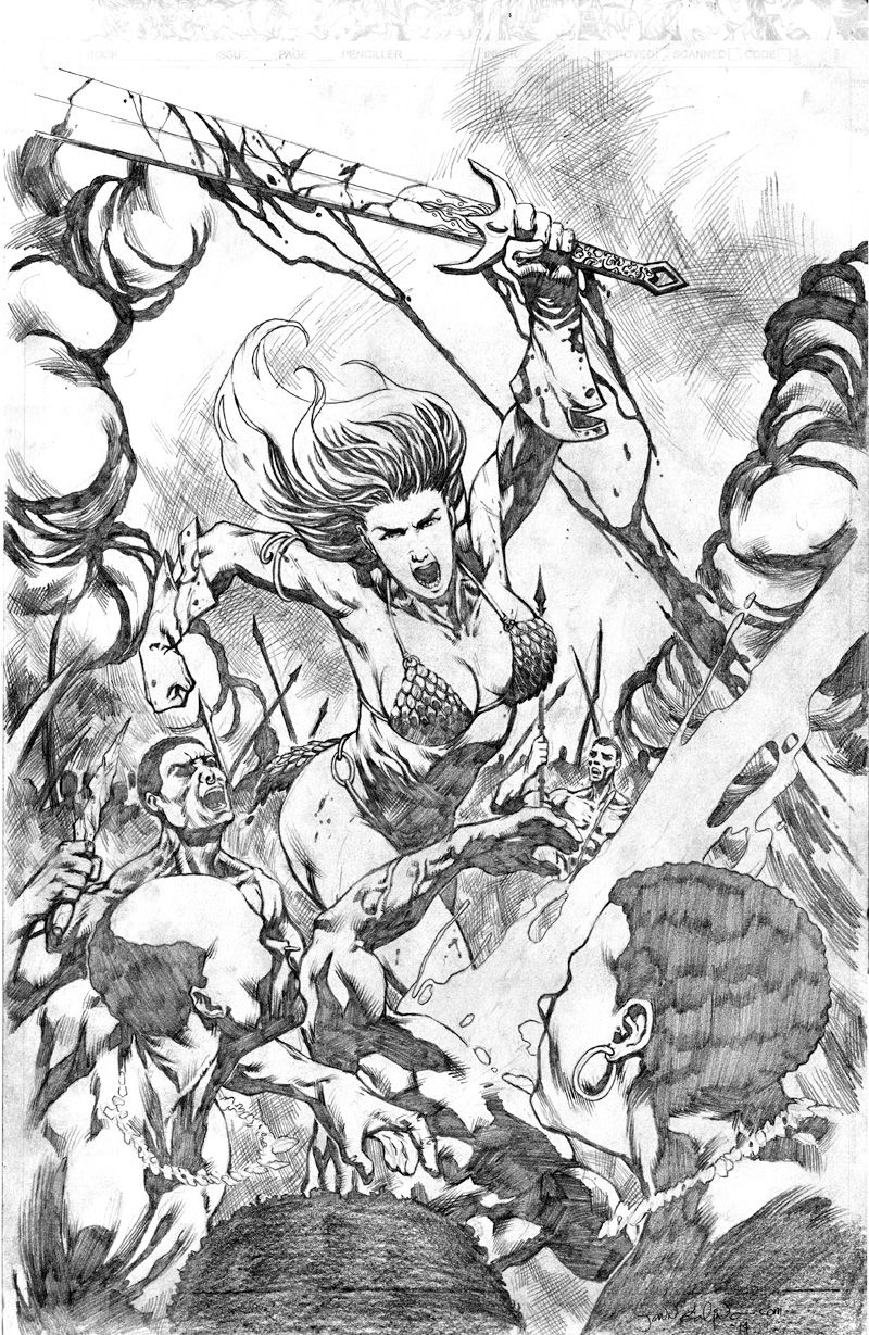 Red Sonja tryout cover page