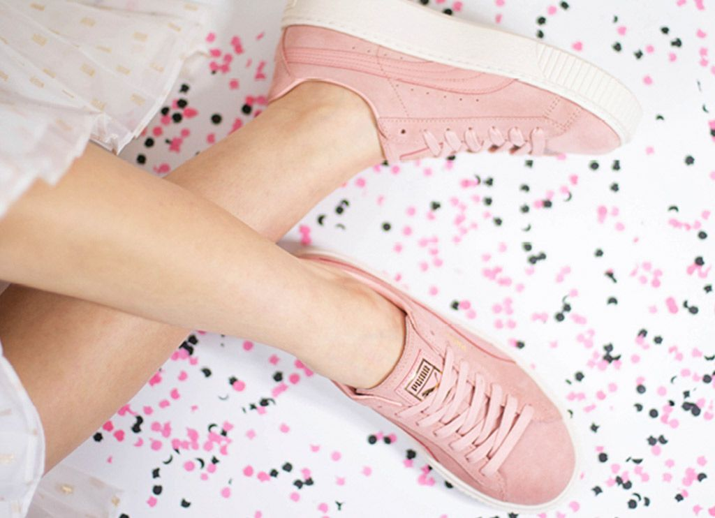 puma basket platform core rosa