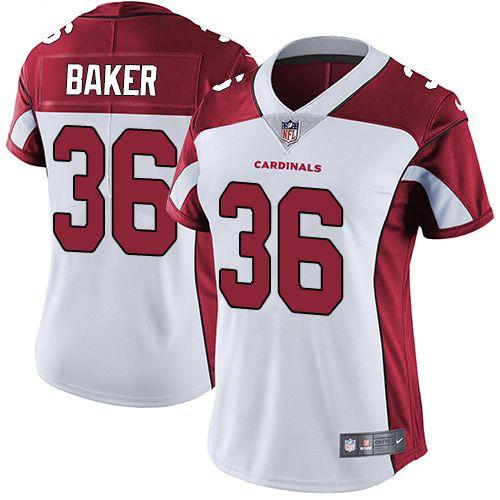 Nike Cardinals #36 Budda Baker White Women's Stitched NFL Vapor ...