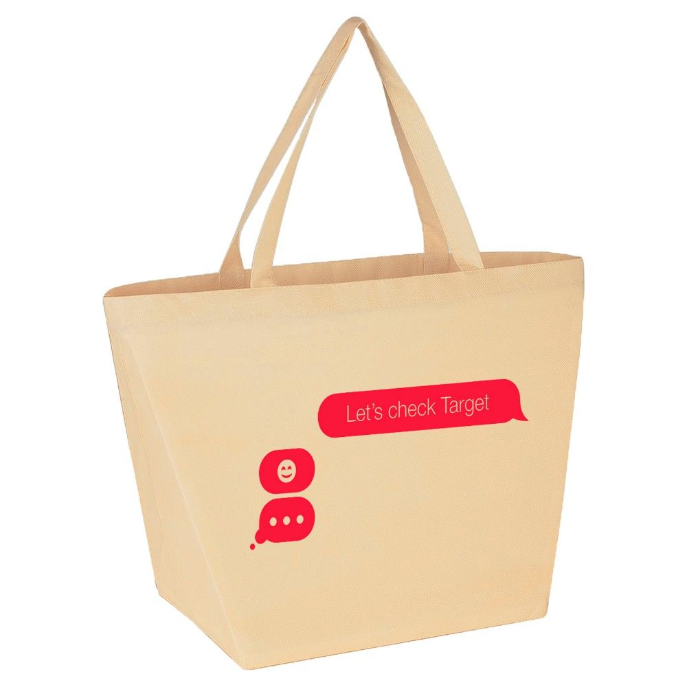 Let's Check Target Non-Woven Tote Bag (Set of 2), Women's, Tan