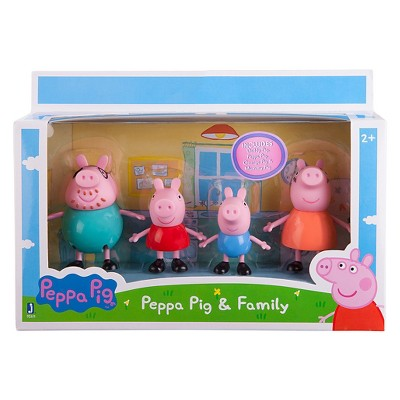 Peppa Pig Family Figures Pack  Mummy Daddy  Peppa George Kids Play Toy Set New