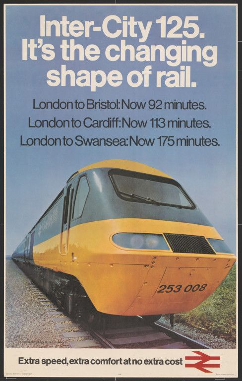 BRITISH TRAIN POSTERS -Inter-City 125. It's the changing shape of rail. Donnelly, Peter,JUL16