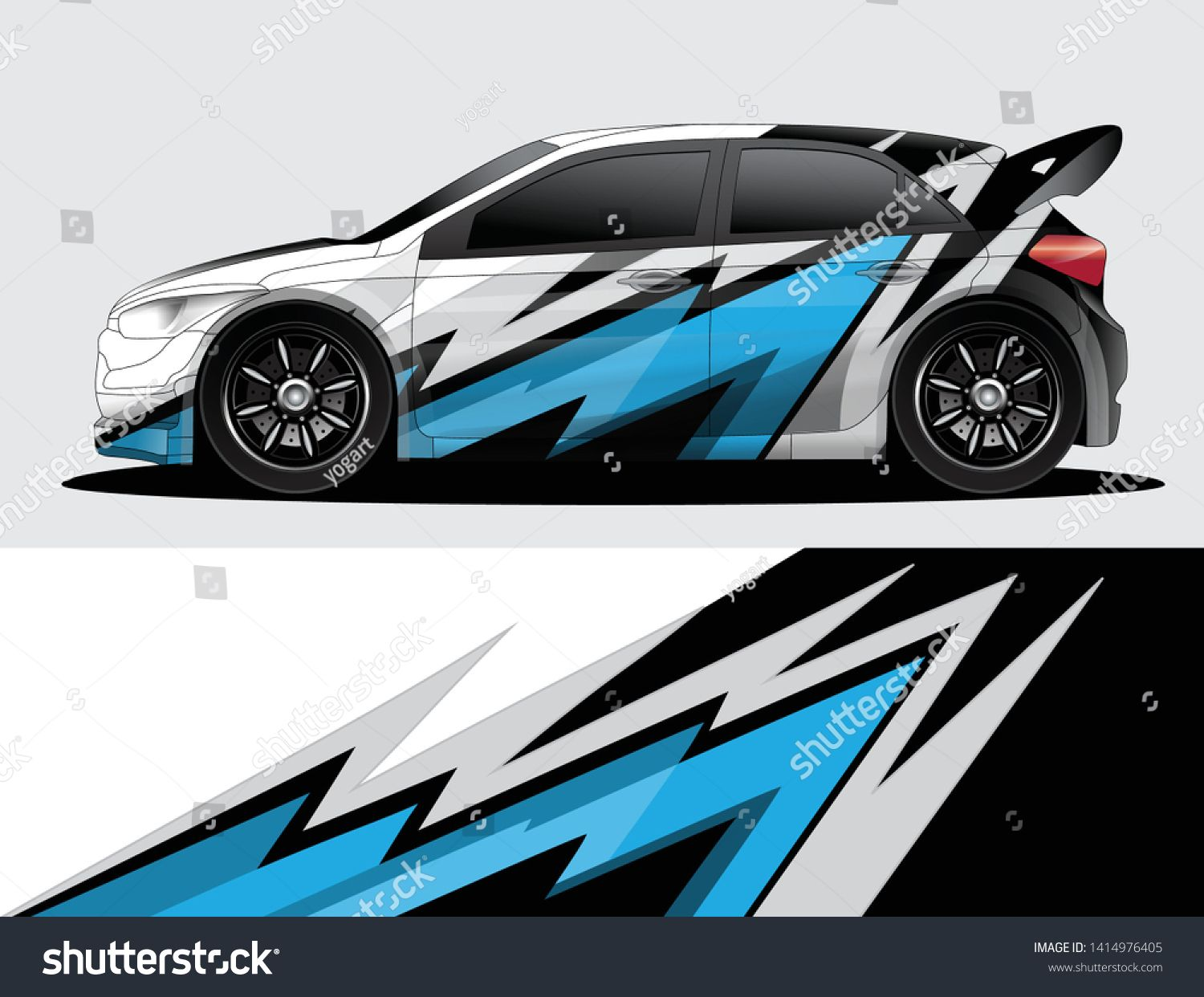 Rally Car Decal Graphic Wrap Vector Abstract Background Stiker Mobil Mobil Modifikasi Mobil [ 1242 x 1500 Pixel ]