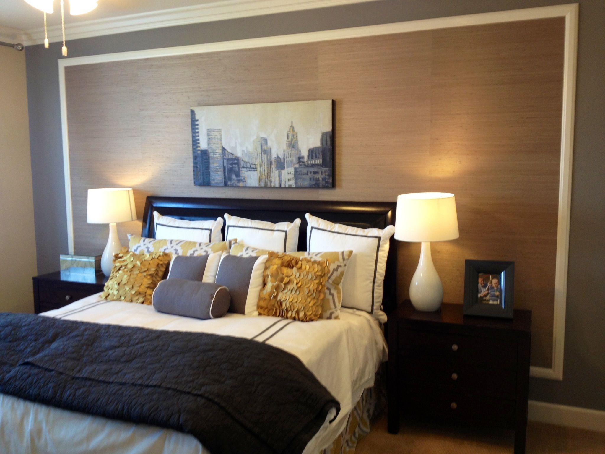 Best Framed Textured Wallpaper Master Bedrooms Decor Bedroom 640 x 480