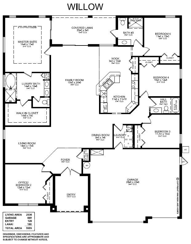 Kitchen Family Room Layouts kitchen/family room layout. highland homes willow - 5 bed, 3 bath