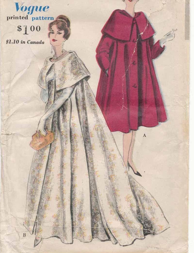 Vogue 9823; Sz 12/Bust 32 - I've been wanting this regal coat pattern for soooooo long and I finally got it, yaaaay!