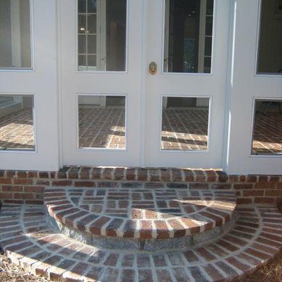 Rounded Brick Front Steps Brick Steps Brick Sidewalk