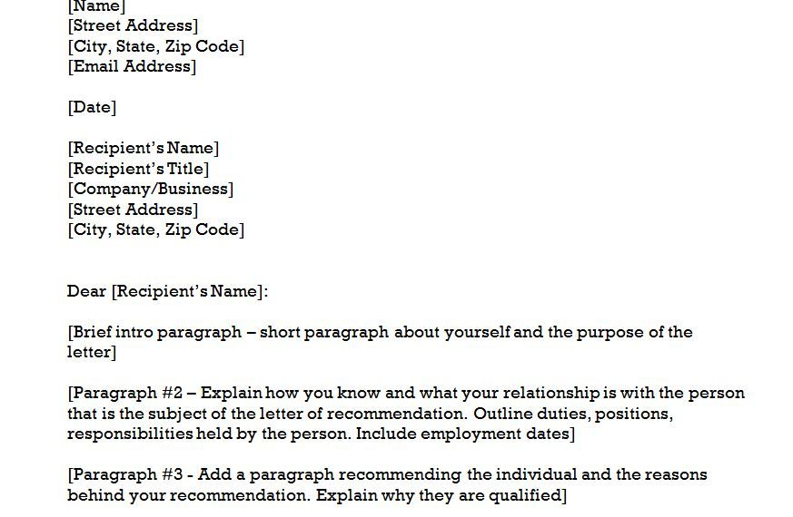 Copy and paste the site I give you (the pic was just some random - letter of recommendation word template