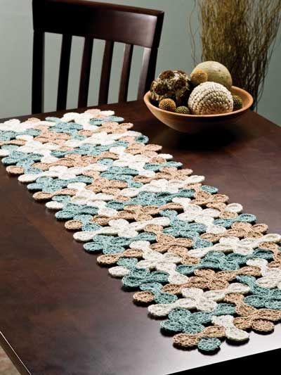 Woven Shell Table Runner Crochet gotta learn to crochet Wish my Adorable Crochet Table Runner Pattern