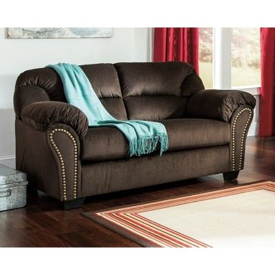 kinlock loveseat chocolate signature design by ashley brown rh pinterest com