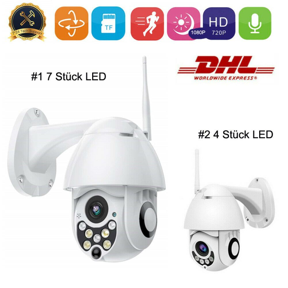 1080P CCTV WiFi IP NETZWERK Kamera AUßEN ÜBERWACHUNGSKAMERA FUNK WLAN CAMERA DHL