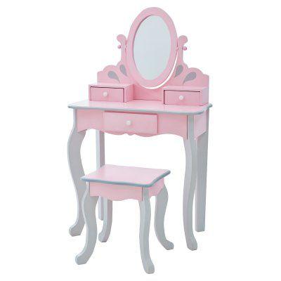 Teamson Kids Little Princess Rapunzel Toy Vanity Set Vanity Set