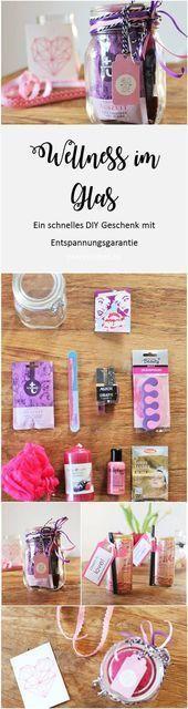 DIY Geschenkidee: Wellness im Glas - Geschenke - #DIY #Geschenke #Geschenkidee #Glas #Wellness- -#Geldgeschenke #wellnessimglas