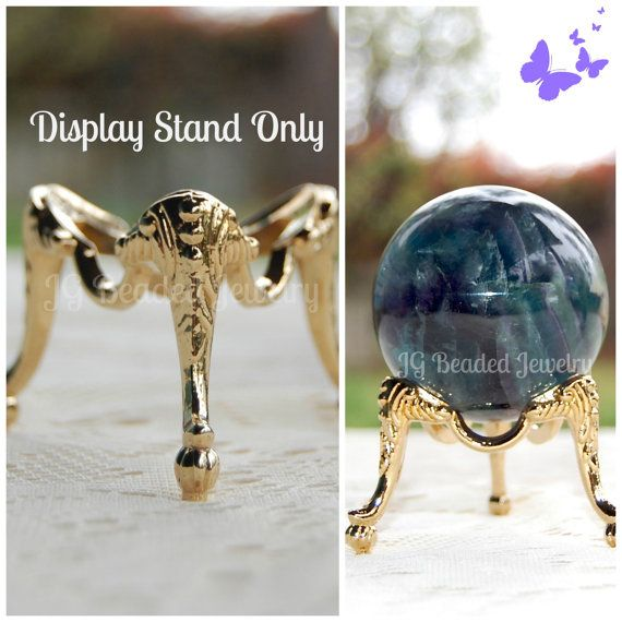 Golden Sphere Crystal Ball stand  Sphere stand Crystal ball crystal sphere
