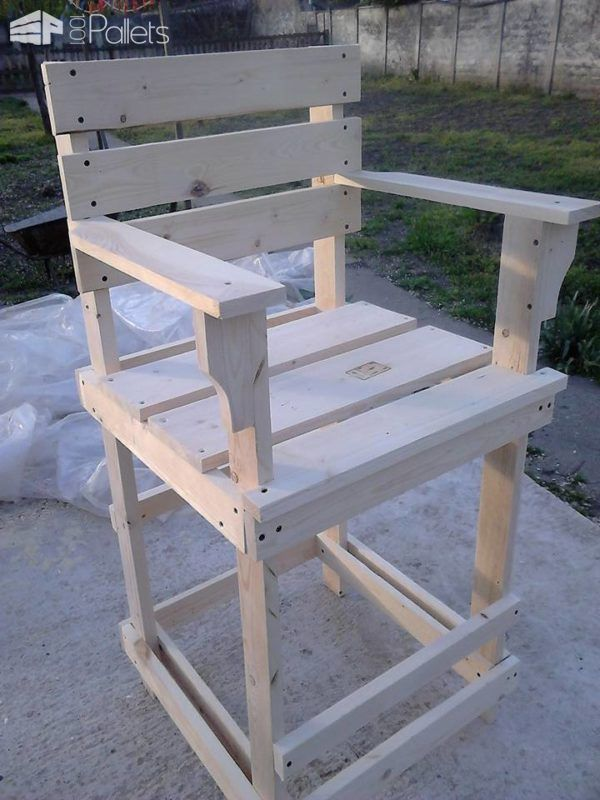 pallet bar stool tall bar chair diy pallet bar stools pallet rh pinterest com