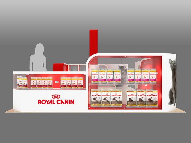 Royal Canin Mall Activation Unit Side View Brand Identity