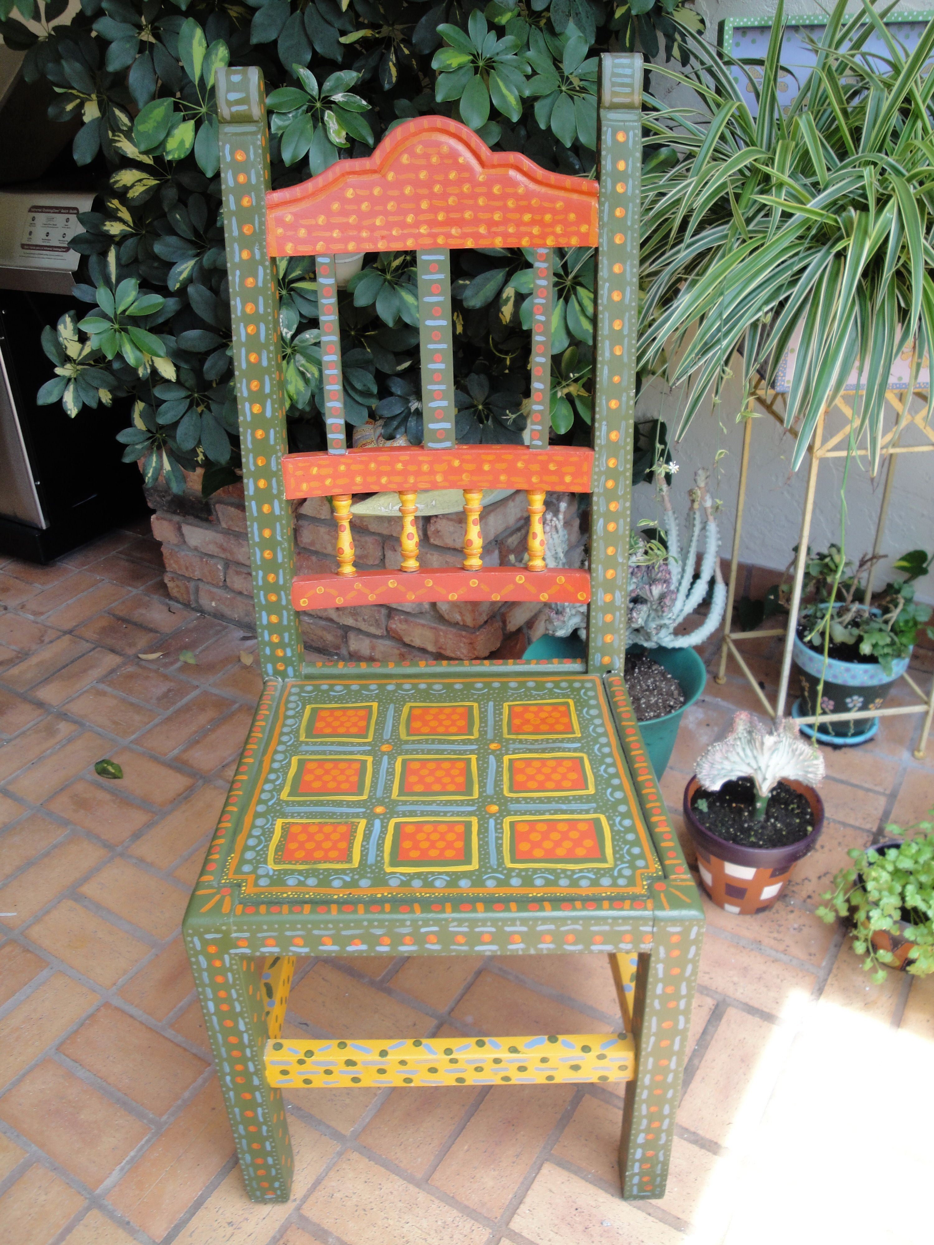 neighbor s discard given new life with dots painted furniture for rh pinterest com