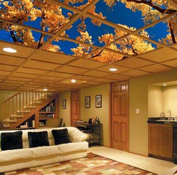 20 cool basement ceiling ideas basement basement ceiling rh pinterest com