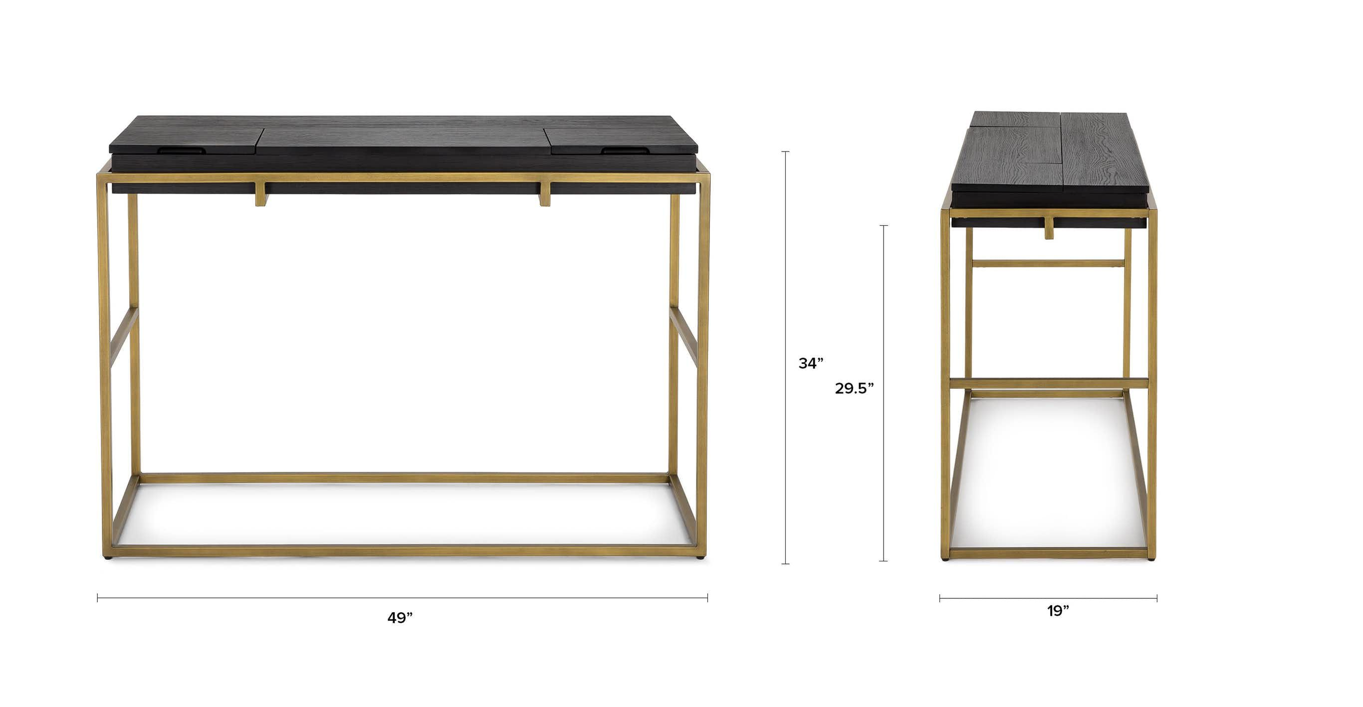 Cubic Proportions The Oscuro Console Features Natural Wood Grain Juxtaposed Against Brush Mid Century Modern Console Table Modern Console Tables Console Table